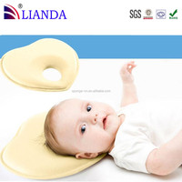 Organic Cotton Environmental Protection Infant Pillow,Prevent Flat Round Memory Foam Baby Pillow