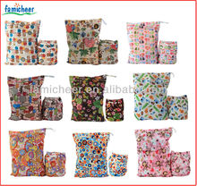 2014 Famicheer Double zipper Wet Dry Bag,Two Pocket Diaper Bag
