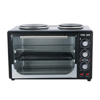 30L electric oven with solid hot plate Electrical Toaster Oven with CB certificate Table oven with two plate