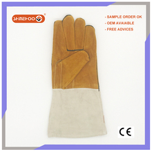 SHINEHOO Double Palm Suede Leather Fireproof Work Gloves