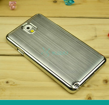 Aluminum Case For Samsung Galaxy Note 3 N9005 N900 N900A Galaxy Logo Brushed Metal Battery Back Cover note3 Housing