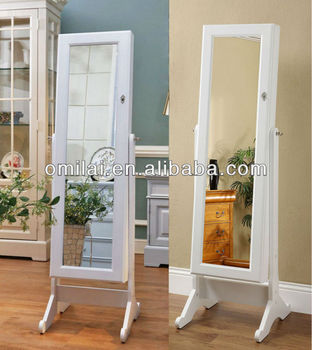 wooden furniture mirrored jewelry cabinet