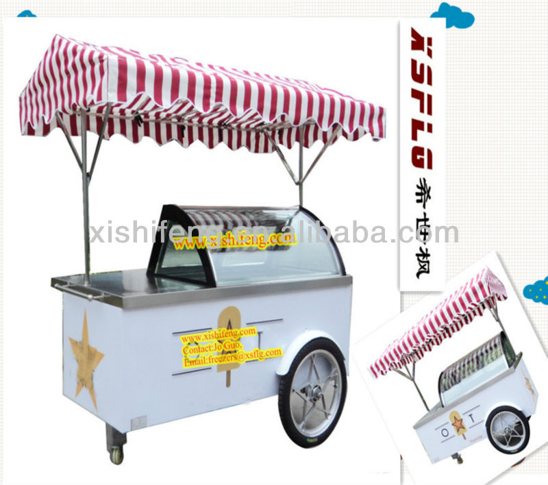 Item B4 (CE approved) -16 degree popsicle display cart