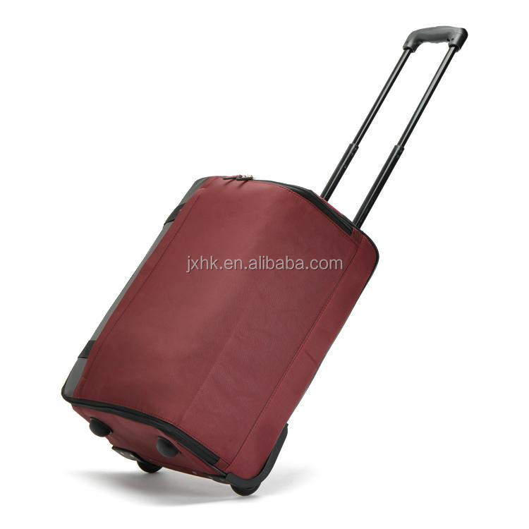 style promotional folding fabric luggage airline travelling trolley bag
