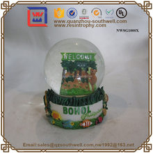 Philippines Souvenir Bohol Island Resin Polyresin Water Globe For Tourist Souvenirs