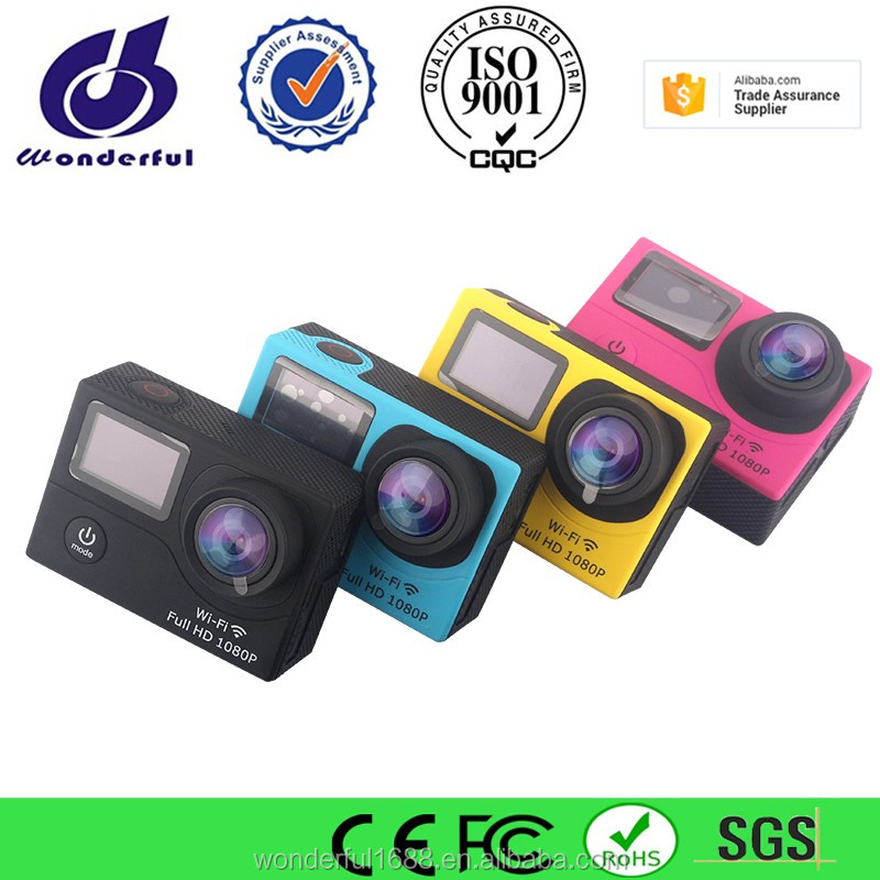dual screen full hd 1080p action camera for outdoor sports /waterproof sports camera