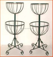 2 Tier Flower Fountain flower Baskets pot stand