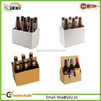 New design strong kraft paper box for beer carriers