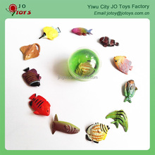 Mini fish with painting plastic capsule toy
