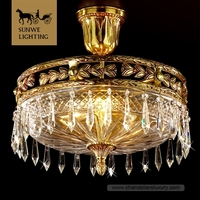 High End 3 Lights Crystal Ceiling