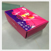 Glossy oil surface watermark printing shoes packaging box