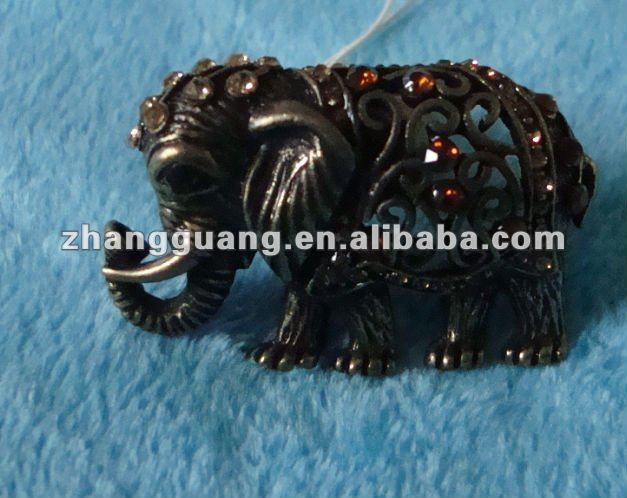 Fashion bronze indian elephant design jewelry ring