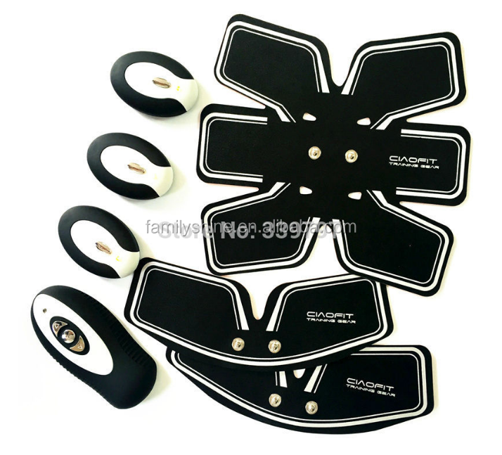 EMS muscle stimulator EMS Muscle training Machine Electric Body Building Stimulation Six Pad FS-113-1208a