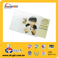 "Hot Sale blank pvc 3.5 x 5 ""clear photo insert magnet"