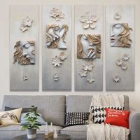 3D relief arts for wall decoration& CANVAS oil painting for beautiful lady impression
