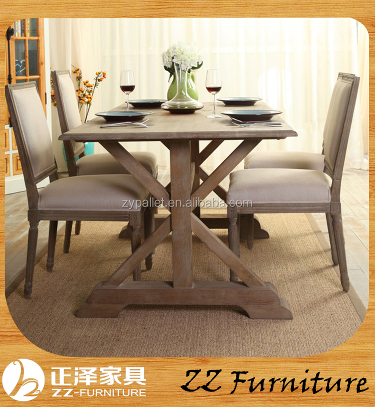 Vintage dining room furniture wooden dinning table set with chairs