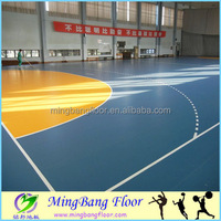 China supplier PVC basketball sports court flooring