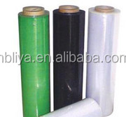 colorful transparent 25mic ldpe stretch hand use film wrap