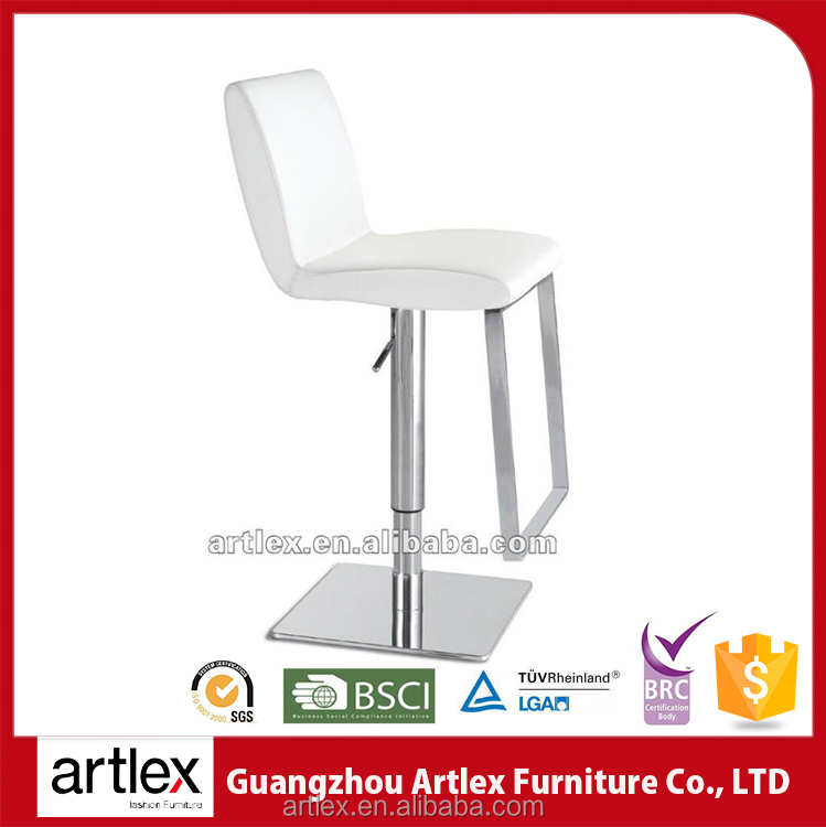 Artlex Variety Of Light Colored Pu Seating Hydraulic Tuv Bar Chair Lucite Leather High Back Swivel Bar Stool