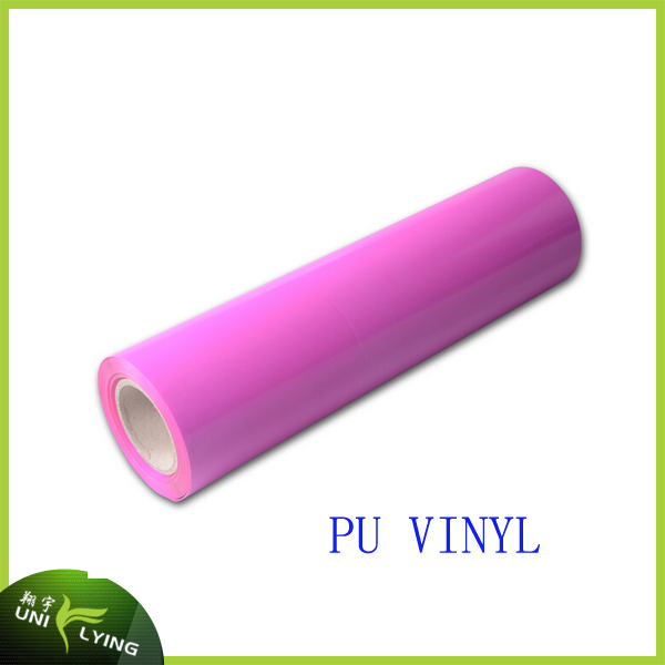 Wholesale Korea quality neon pink PU heat transfer vinyl