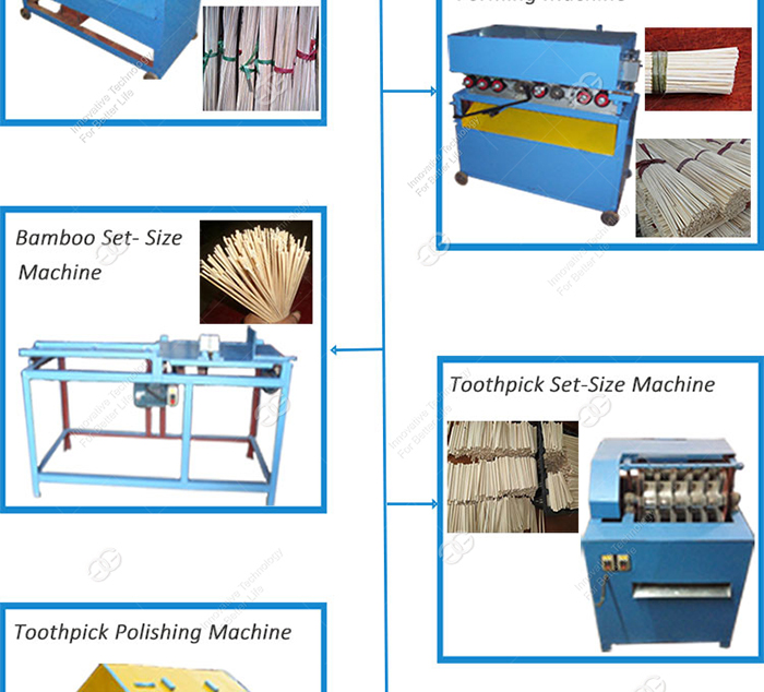 Factory Manufacturing Bamboo Processing Equipment Automatic Wooden Bamboo Toothpick Production Line