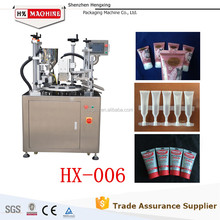 Manual Tube Filling And Sealing Machine For Small Size Empty Packaging Squeeze PE Plastic Tube