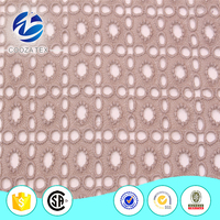 Indian guipure cotton embroidery lace fabric for fancy dresses