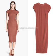 Zippy 2014 New arrival plain midi dress/dresses for mother of graduate