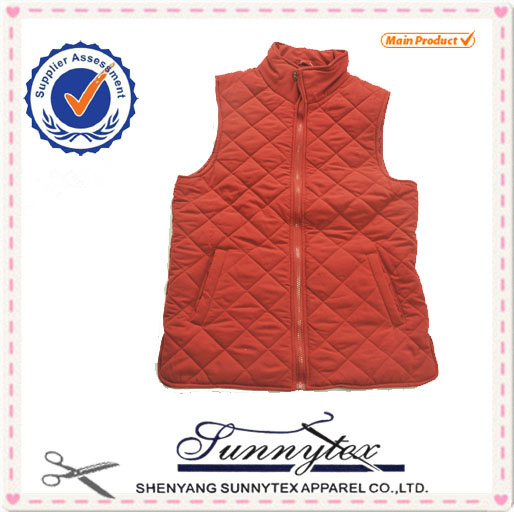 SUNNYTEX Warm and comfortable OEM Fancy High quality cut and sew vest for women