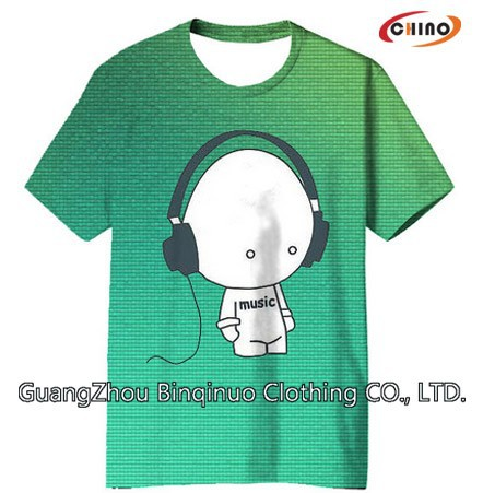 Sublimation Tee Shirt with New Design