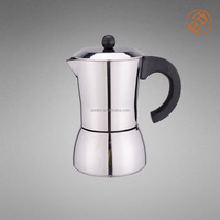 2015 new design stainless steel espresso coffee machine 6 Cups