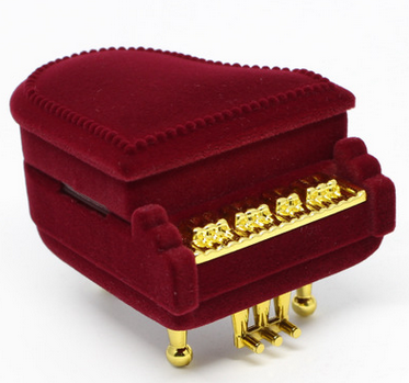 New Piano Ring Box Earring Pendant Necklace Jewelry Treasure Gift Case Wedding