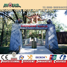 Cement sculpture for dinosaur park door