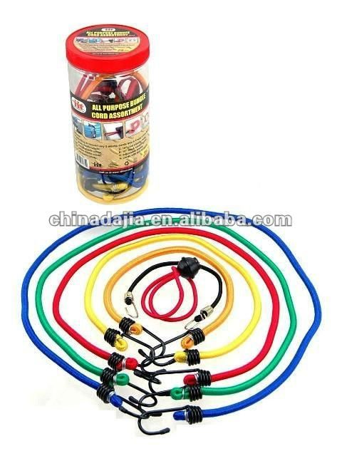12PCS ASSORTED BUNGEE ROPE/CORD PACK