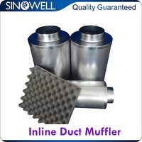 Best Price Ever Hydroponics UV Penetrable Air Duct Inline Fan Silencer Muffler