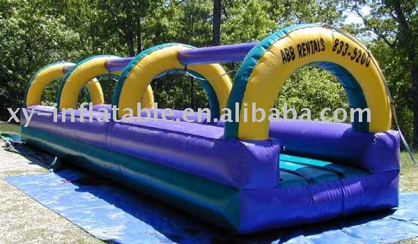 backyard inflatable flat water slide for adult,funny water game slide for lake