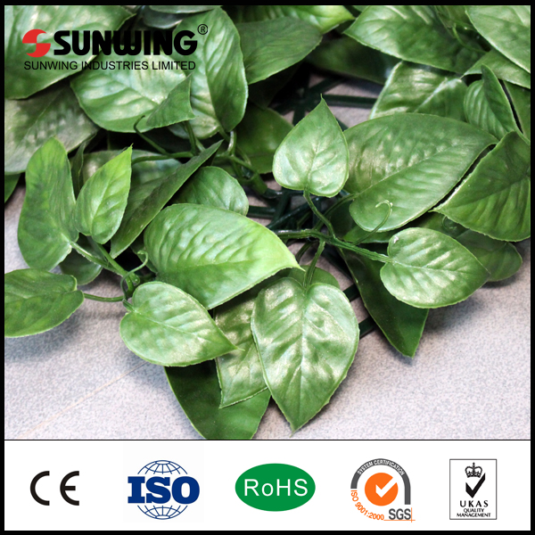 SUNWING new ideas outdoor pvc coated artificial leaf wall panels