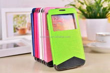 Double Color Stand PU Screen Window Leather Case for Samsung Galaxy Note 3 N9000