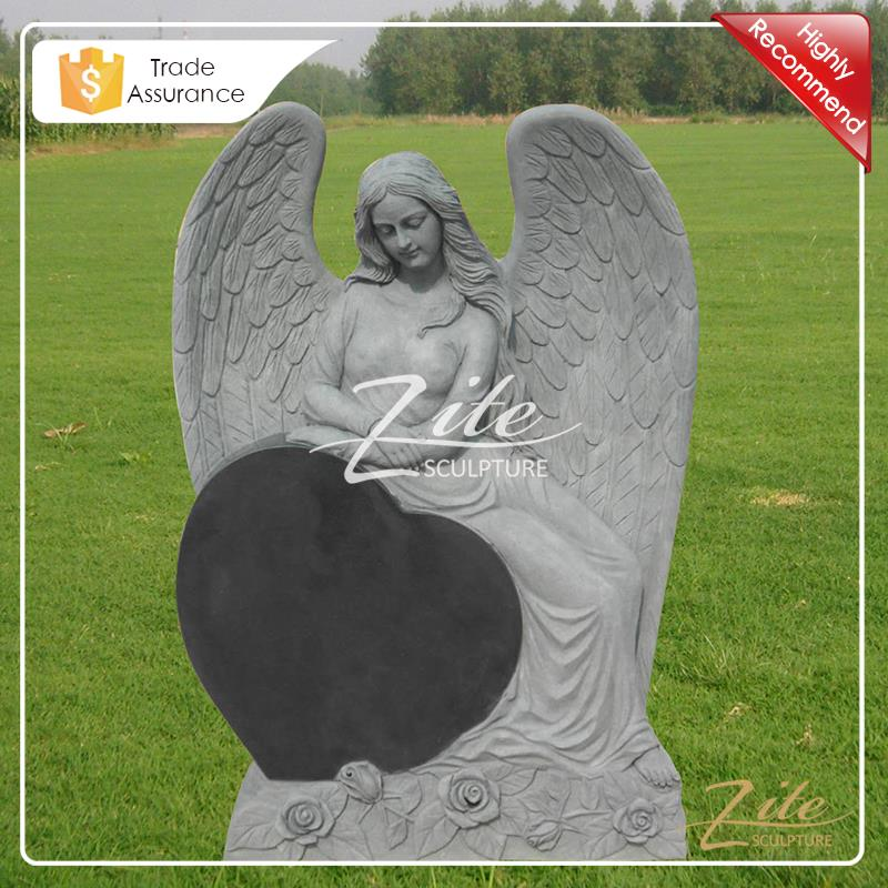New Designs High Quality angel heart shaped monuments