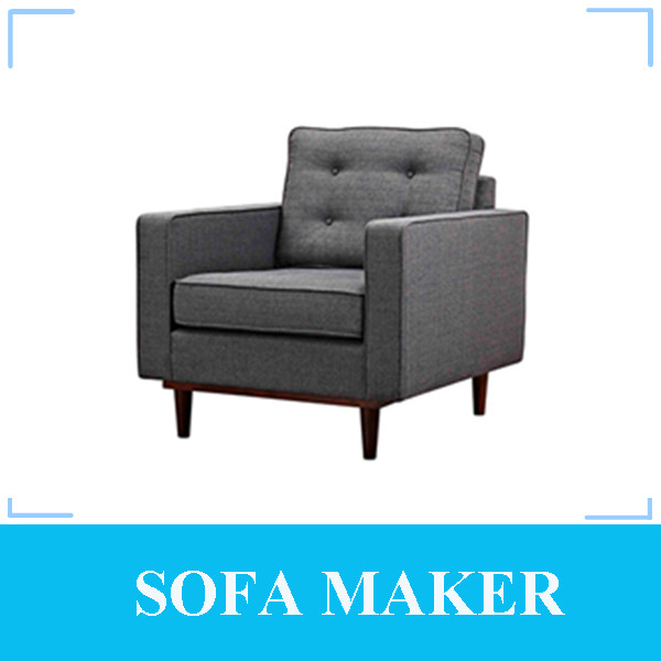 Antique Design One Seater Sofa Furniture with Rubber Wooden Legs MY180