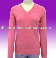 Women's 100% cashmere lady sweater