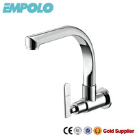 Commercial wall mounted brass kitchen faucet SC550