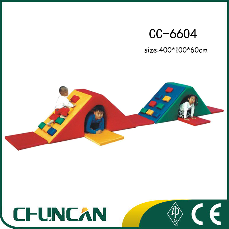 Colorful Baby soft climb play slides indoor kids toys play small home indoor playground