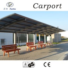 Polycarbonate elegant aluminum car parking shelter