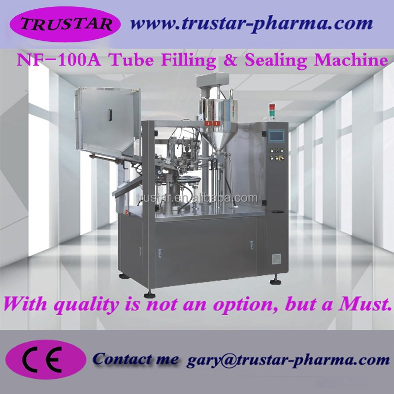 Automatic Cosmetic products tube filling and sealing machine pharmaceutical machinery