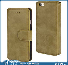 Alibaba Hot Products, Retro Wallet Leather Case for iPhone 6, 6 Plus