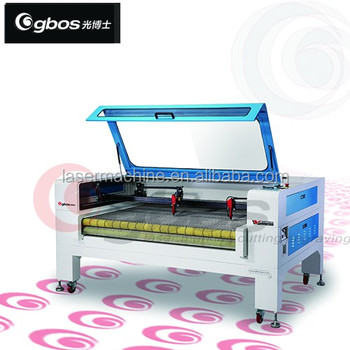 CO2 laser Auto Feeding laser cutter/roll fabric laser cutting machine with auto feeding/roll film laser
