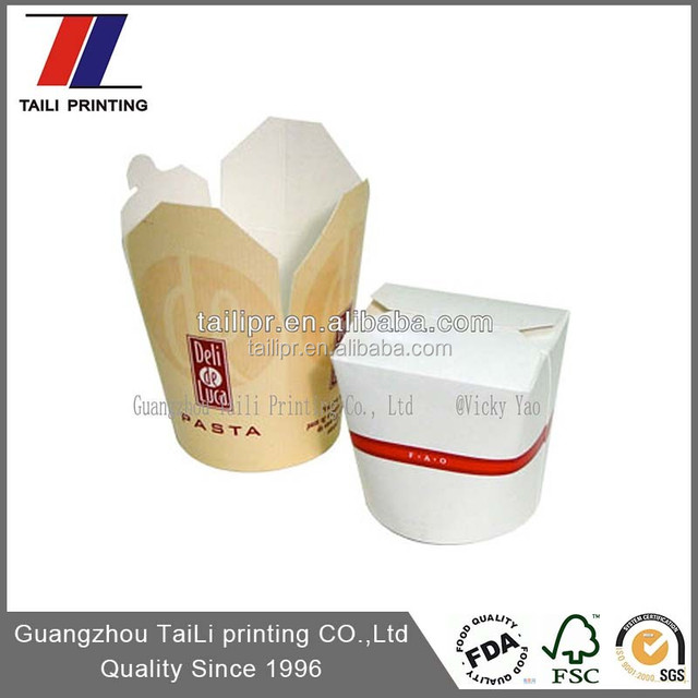 Custom biodegradable noodle box,disposable noodle box