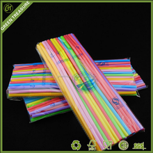 PP Novelty Disposable Neon Straight Drinking Straw,plastic drinking straw