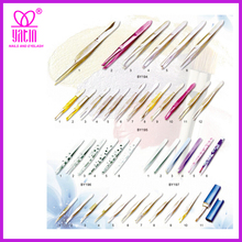 Point tip tweezers.golden tip tweezers.stainless steel tweezers